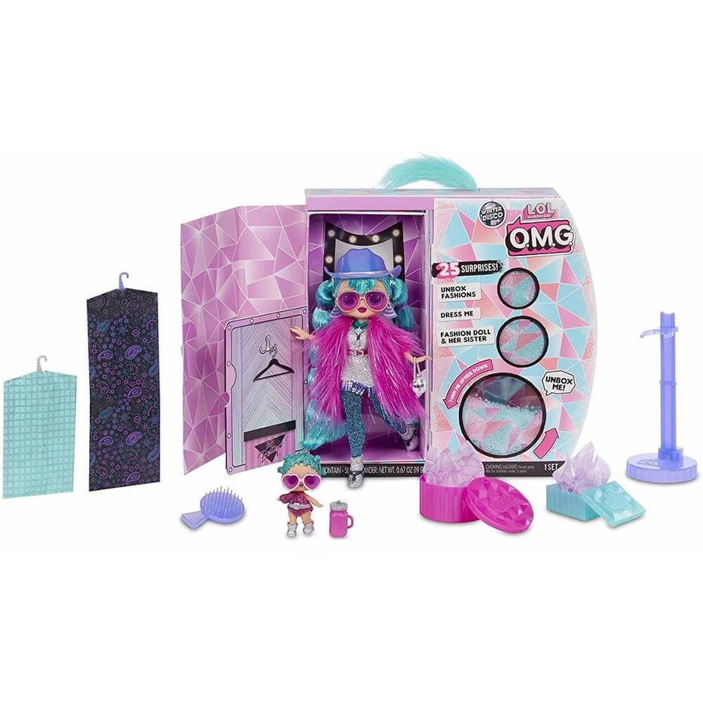 Кукла LOL Surprise OMG Winter Disco Cosmic Nova And Cosmic Queen с 25 сюрпризами